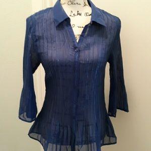 NWT Fashion Bug semi-sheer shirt medium
